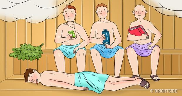 4 người đàn ông rủ nhau vào phòng tắm hơi, một người bị giết bởi vật sắc nhọn, thủ phạm là ai? - Ảnh 3.