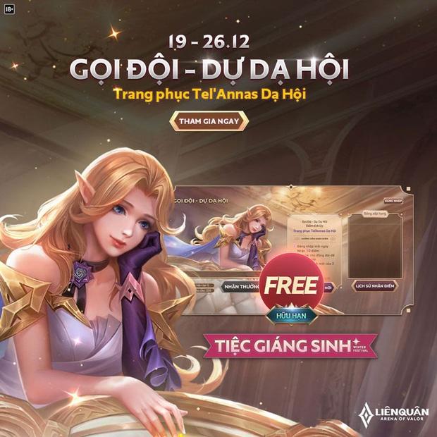 Liên Quân Mobile: Garena tặng FREE skin TelAnnas Dạ Hội khiến game thủ Việt điên đảo spam khắp mọi nơi! - Ảnh 1.