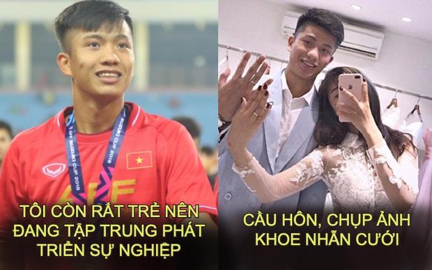 2018 bảo muốn tập trung sự nghiệp, 2019 Phan Văn Đức đùng đùng đi lấy vợ: Anh thì cái gì cũng giỏi, nhưng giỏi nhất là bốc phét! - Ảnh 1.
