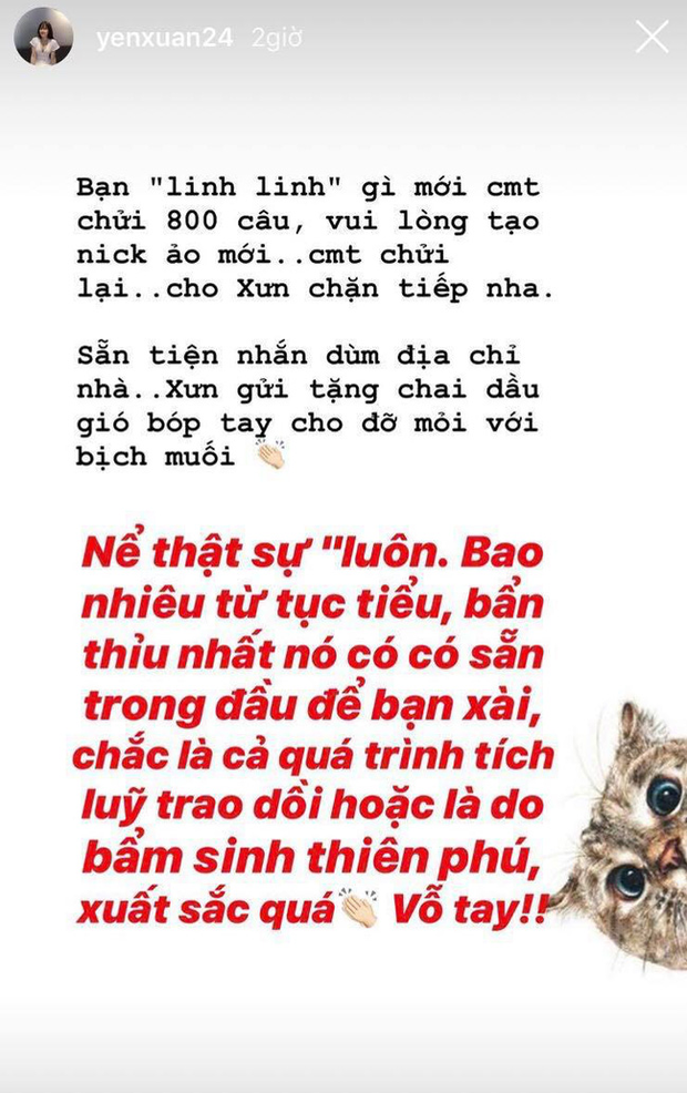 """Bị anti-fan xúc phạm bằng từ ngữ tục tĩu, Yến Xuân - bạn gái Văn Lâm tuyên chiến: Chặn hết nick ảo, tặng thêm dầu gió bóp tay cho """"anh hùng bàn phím"""" - Ảnh 1."""