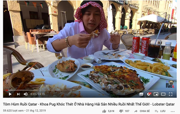 Nhà hàng hải sản được cho là nhiều ruồi nhất thế giới ở Qatar khiến Khoa Pug khóc thét, ngồi ăn mà cứ sợ… ruồi bay vào mồm! - Ảnh 1.