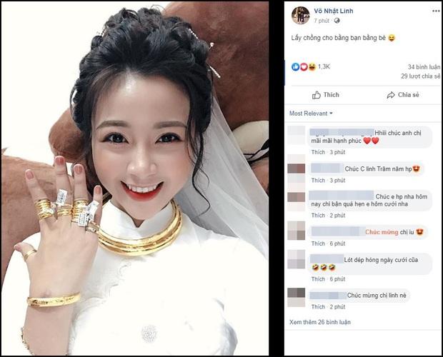 Vợ Phan Văn Đức khoe vàng đeo kín tay, trĩu cổ sau đám hỏi, còn vui vẻ: Lấy chồng cho bằng bạn bằng bè! - Ảnh 1.