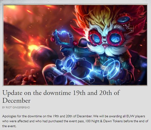 Sập máy chủ 2 ngày nhưng chỉ đền bù 100 kỷ vật Thần Ma, Riot Games làm game thủ quốc tế phẫn nộ - Ảnh 1.