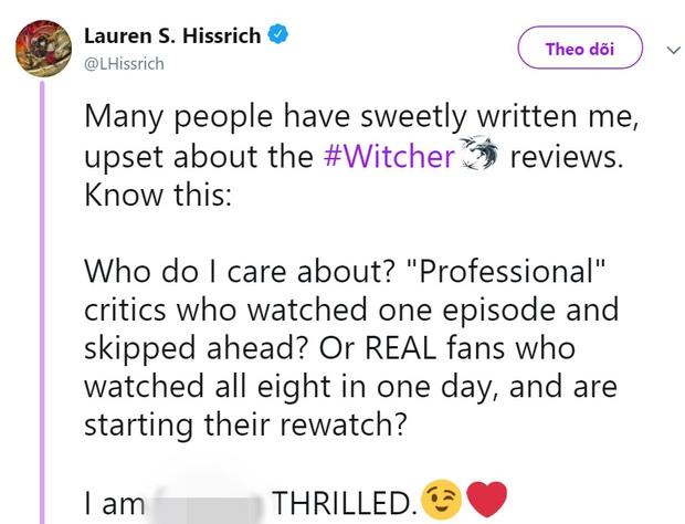 Bom tấn Netflix The Witcher bị chấm điểm thấp ngỡ ngàng, nhà sản xuất lên tiếng cà khịa giới phê bình không chịu xem cho hết - Ảnh 3.