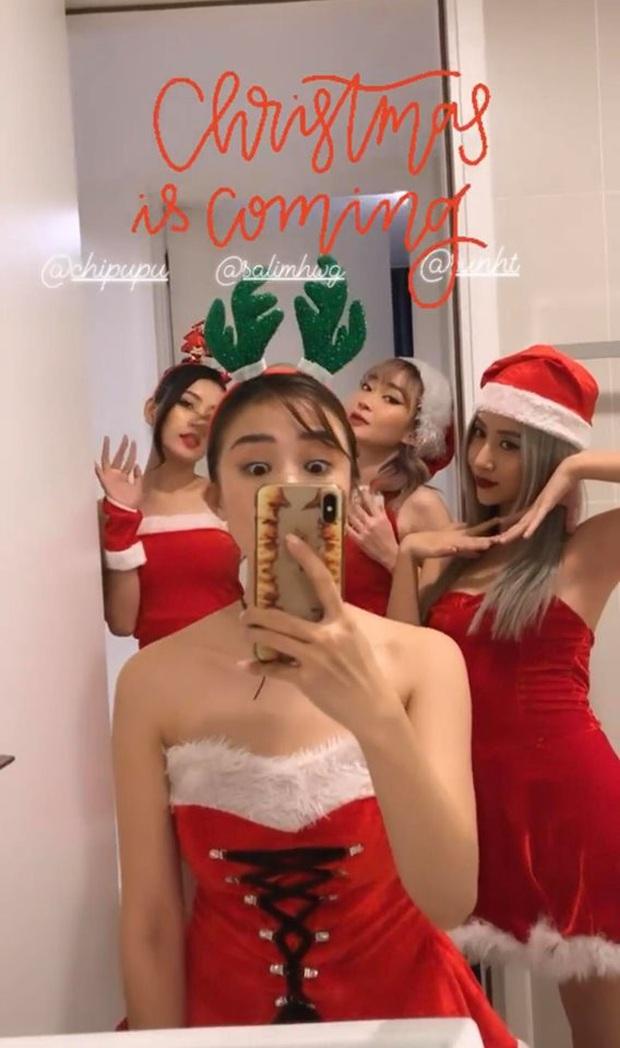 Đang tiệc quẩy Noel, hội chị em Chi Pu lại rủ nhau ăn… bánh chưng rán: Chẳng hiểu là Giáng sinh hay Tết nữa! - Ảnh 1.