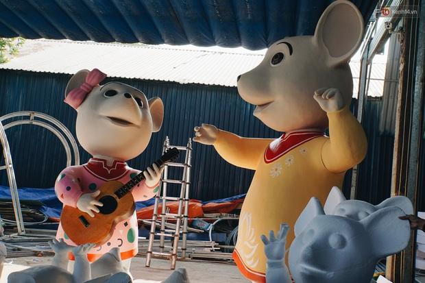 Ngắm đàn chuột chuẩn bị ra đường hoa Nguyễn Huệ biểu diễn mừng Tết Canh Tý 2020 - Ảnh 3.