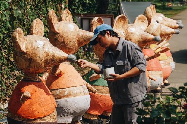 Ngắm đàn chuột chuẩn bị ra đường hoa Nguyễn Huệ biểu diễn mừng Tết Canh Tý 2020 - Ảnh 12.
