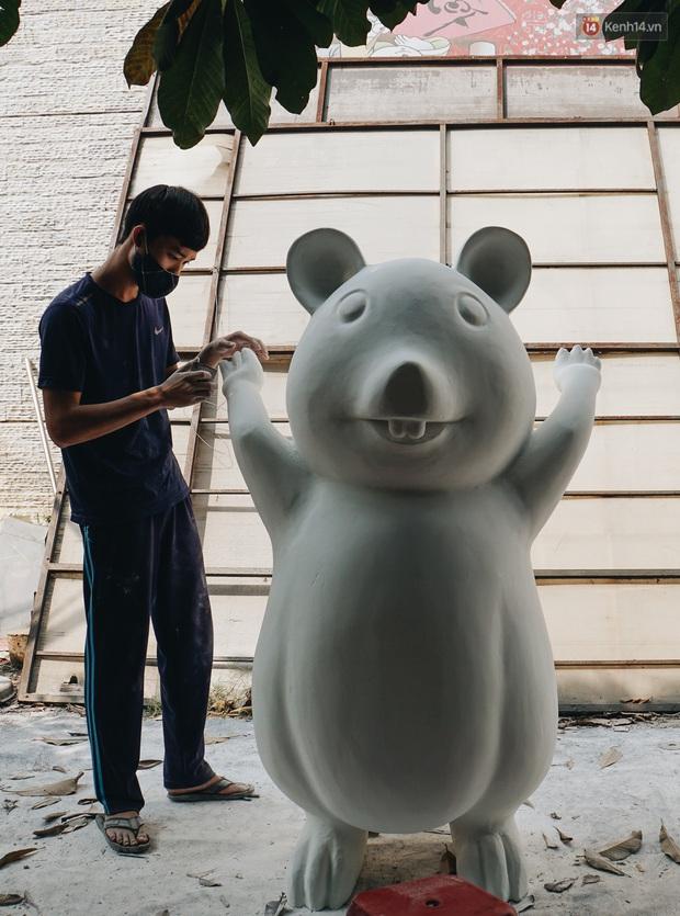 Ngắm đàn chuột chuẩn bị ra đường hoa Nguyễn Huệ biểu diễn mừng Tết Canh Tý 2020 - Ảnh 14.