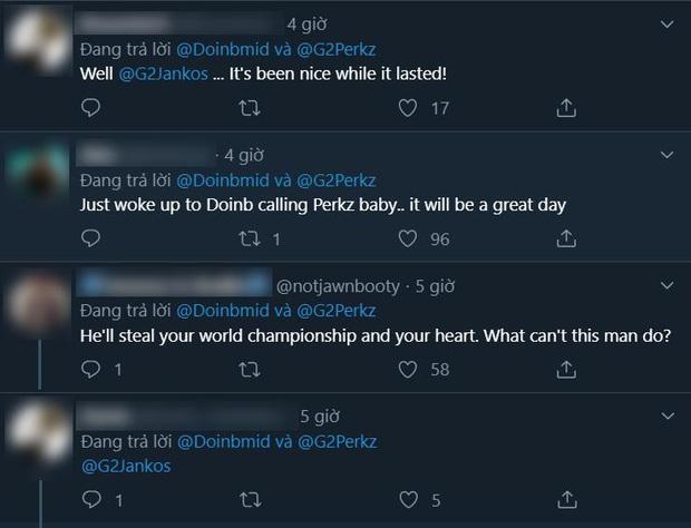 DoinB và Perkz đua nhau thả thính công khai, fan liên tục gọi hồn Jankos trói Perkz lại ngay kẻo mất người - Ảnh 3.