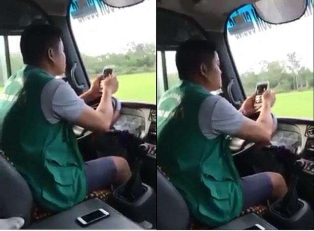 Thót tim tài xế xe buýt dùng điện thoại khi lái xe - Ảnh 2.