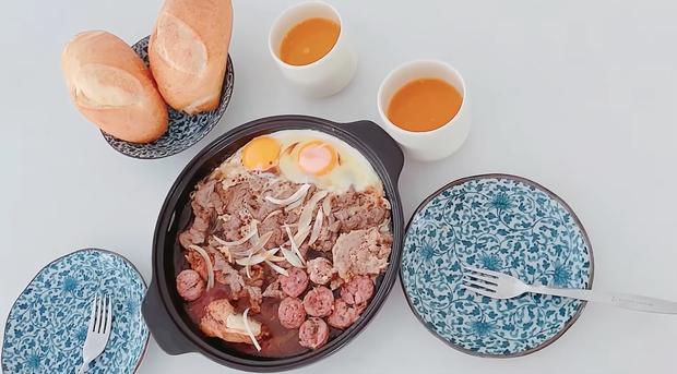 Khi Thuỷ Tiên nấu bữa sáng cho chồng: làm bò né thôi mà dùng đến nguyên liệu của 5 nước - Ảnh 7.
