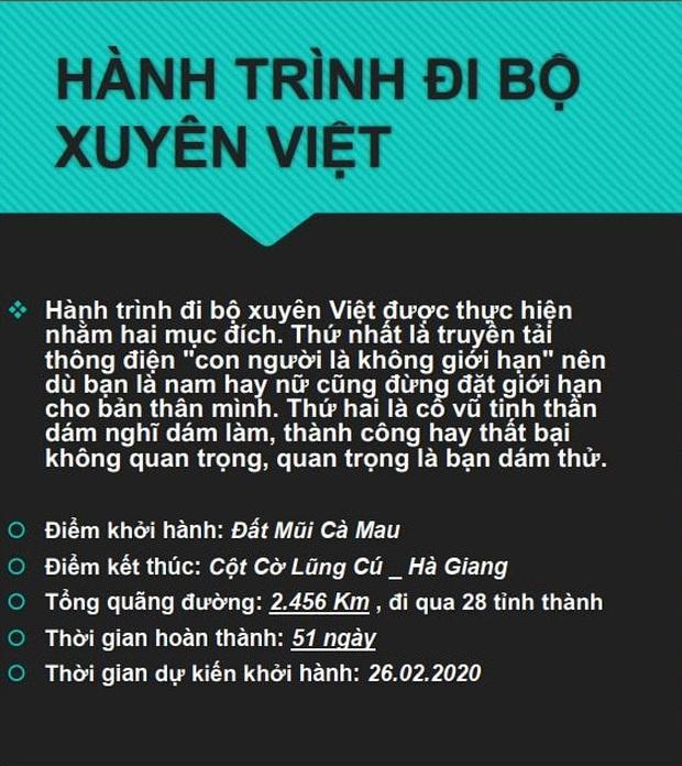 Cô gái miền Tây lên FB tìm nhà tài trợ để chuẩn bị đi bộ xuyên Việt gần 2,500km trong 51 ngày: Dân mạng lập tức chia 2 phe - Ảnh 2.
