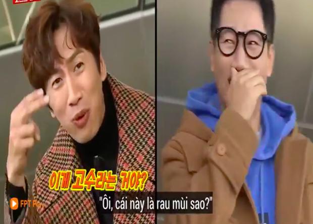 """Các thành viên Running Man Hàn """"lú lẫn"""" vì loại rau thơm khi ăn kèm với phở ở Việt Nam, chú Ji Suk Jin còn bị một vố """"quê độ"""" - Ảnh 10."""