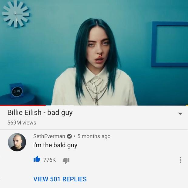 Ai là người có comment nhiều Like nhất YouTube? Chính là thanh niên nổi danh nhờ cà khịa Billie Eilish đây - Ảnh 1.