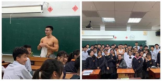 Thầy giáo siêu cấp điển trai gây sốt mạng xã hội khi đang dạy bỗng cởi phăng áo, khoe trọn thân hình 6 múi như tạc tượng - Ảnh 2.