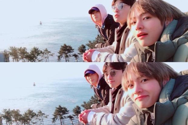 Hiếm có nhóm bạn thân nào như hội Park Seo Joon, V (BTS) và dàn tài tử: Dính nhau mọi dịp lễ, Noel lại gây bão vì ảnh hẹn hò - Ảnh 3.