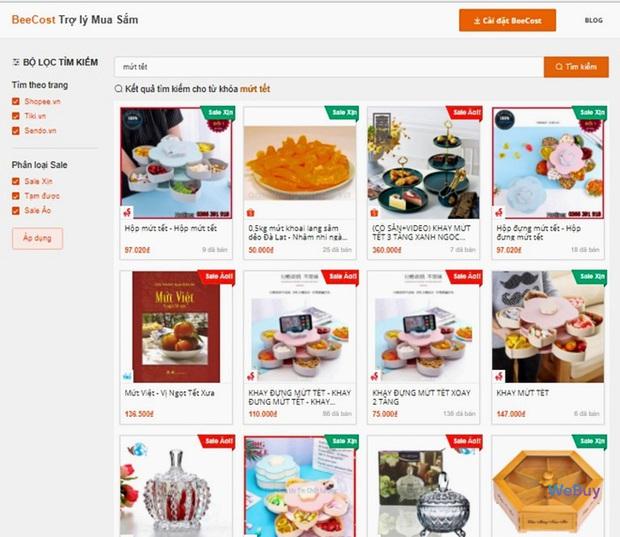 """Dùng thử """"trợ lý mua sắm"""" BeeCost: So sánh giá sản phẩm giữa các sàn TMĐT, tự tìm mã giảm giá - Ảnh 1."""
