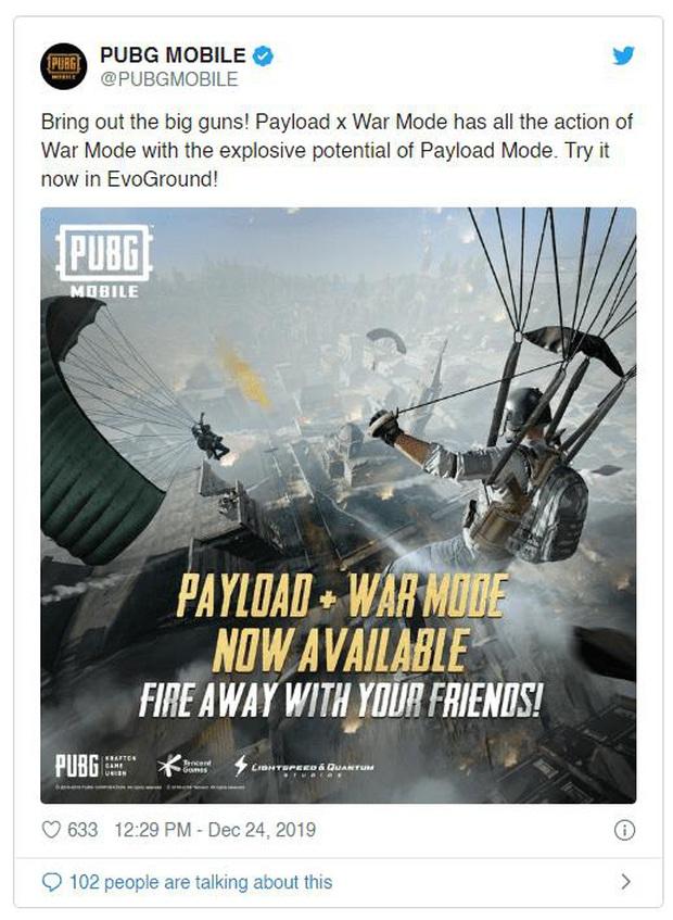 PUBG Mobile: Kết hợp 2 chế độ hot nhất hiện nay, Payload + War Mode hứa hẹn không làm các game thủ thất vọng - Ảnh 1.