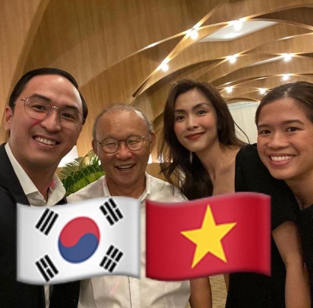 Vợ chồng Hà Tăng khoe khoảnh khắc háo hức vì lần đầu gặp HLV Park Hang Seo, nhan sắc ngọc nữ gây chú ý lớn - Ảnh 2.