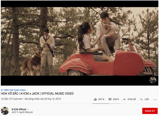 MV của Jack & K-ICM đạt lượng dislike khủng nhất lịch sử Vpop, kênh YouTube đã tụt 250 nghìn lượt đăng ký  - Ảnh 2.
