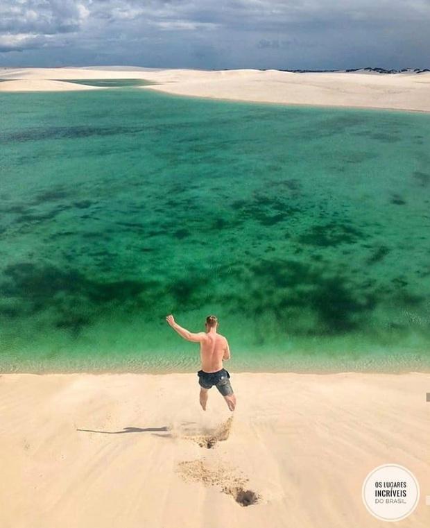 """Dân mạng xôn xao trước loạt ảnh """"tắm biển giữa sa mạc"""" đang gây sốt khắp Brazil, khi tìm ra danh tính của địa điểm mới tá hoả! - Ảnh 21."""