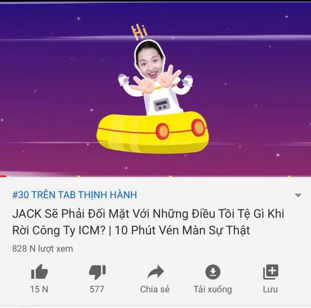 Miu Lê ra 2 MV liên tiếp bị Youtube Trending bỏ quên, Jack vướng sóng gió vẫn thống trị - Ảnh 2.