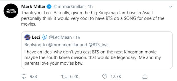 Cha đẻ Kingsman bất ngờ khen BTS không ngớt, cộng đồng fan được phen nở bung mũi - Ảnh 8.