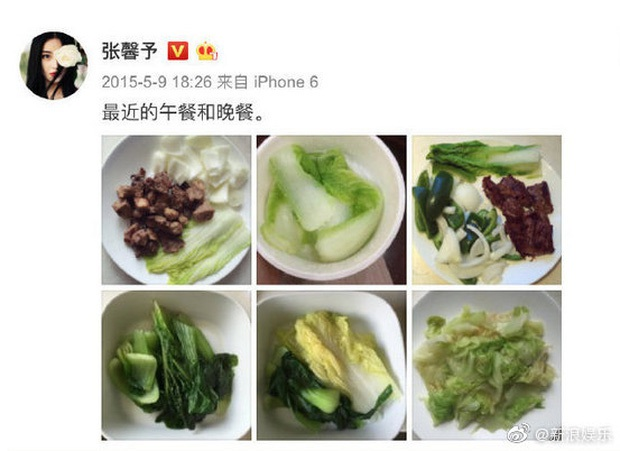 Choáng với quy tắc ăn uống khắc nghiệt của dàn sao Cbiz: người chỉ dám ăn 1 cọng mì, kẻ dành tới 2 năm để ăn dưa chuột và trứng - Ảnh 1.