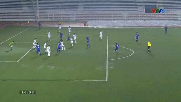 U22 Thái Lan 2-0 U22 Lào: Thần đồng tỏa sáng đúng lúc, U22 Thái Lan đánh bại Lào đầy kịch tính trên sân đấu ngập úng - Ảnh 6.