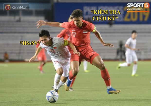 Loạt ảnh chế đội tuyển Việt Nam nở rộ sau trận gặp Singapore: Quang Hải, Chinh Đen cùng loạt biểu cảm không thể nào đắt giá hơn! - Ảnh 11.