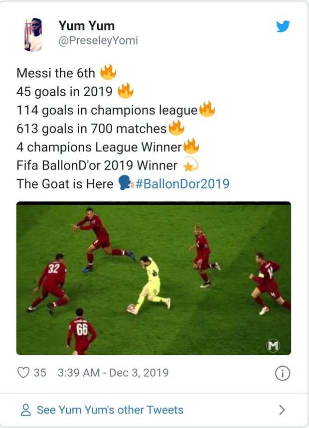 Truyền thông thế giới nói gì sau danh hiệu Quả bóng Vàng thứ 6 của Messi? - Ảnh 6.