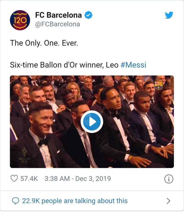 Truyền thông thế giới nói gì sau danh hiệu Quả bóng Vàng thứ 6 của Messi? - Ảnh 2.