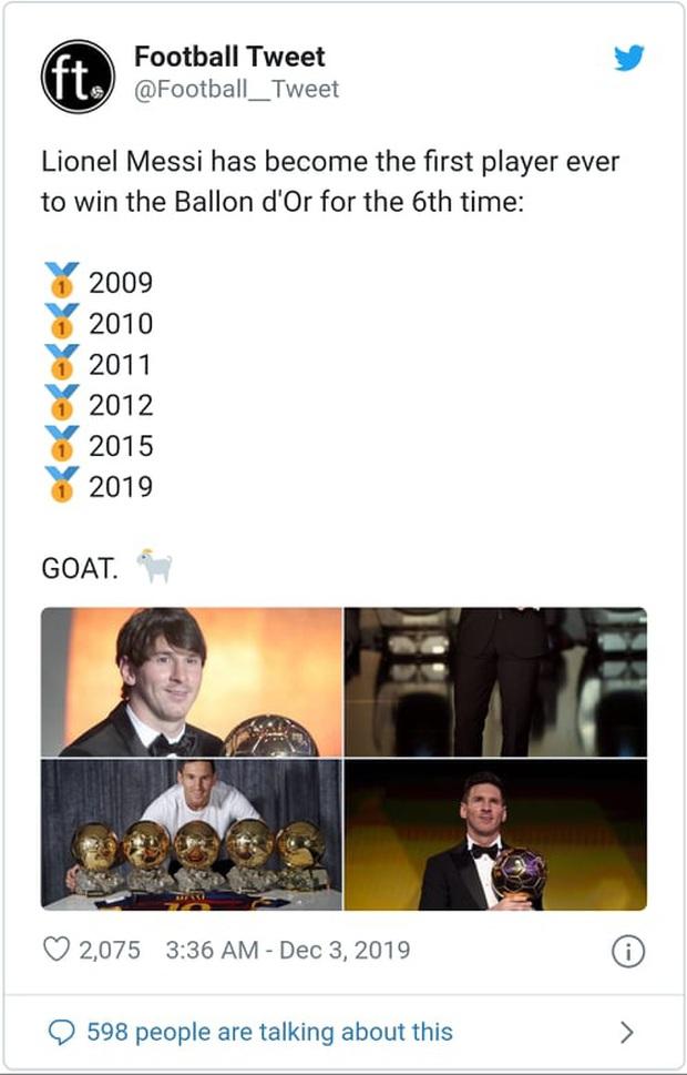 Truyền thông thế giới nói gì sau danh hiệu Quả bóng Vàng thứ 6 của Messi? - Ảnh 4.
