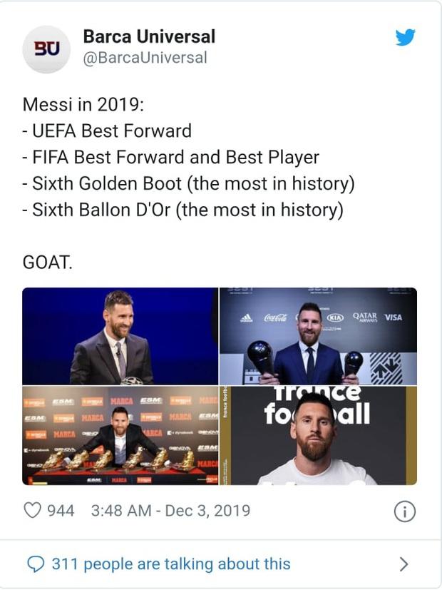 Truyền thông thế giới nói gì sau danh hiệu Quả bóng Vàng thứ 6 của Messi? - Ảnh 5.