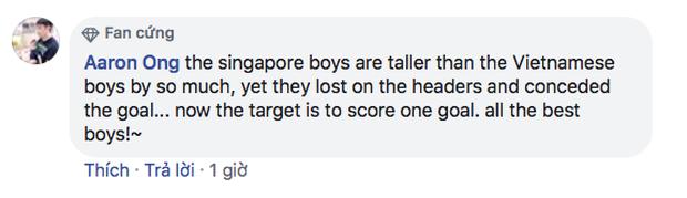 Fan Singapore thi nhau nói kháy trên page của Liên đoàn bóng đá dù đội nhà cầm hòa Việt Nam hơn 80 phút: Trận cuối thắng Brunei 1-0 rồi chúng ta ăn mừng như vô địch World Cup nhé - Ảnh 6.