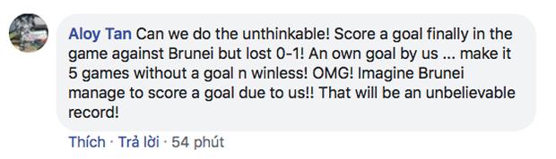 Fan Singapore thi nhau nói kháy trên page của Liên đoàn bóng đá dù đội nhà cầm hòa Việt Nam hơn 80 phút: Trận cuối thắng Brunei 1-0 rồi chúng ta ăn mừng như vô địch World Cup nhé - Ảnh 10.