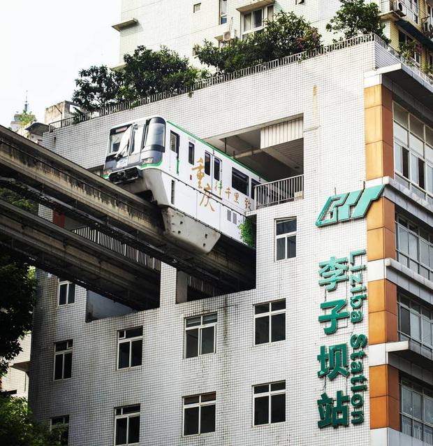 Ga tàu điện chạy xuyên qua chung cư độc nhất thế giới ở Trung Quốc, khách du lịch hôm nào cũng kéo đến check-in nườm nượp - Ảnh 5.
