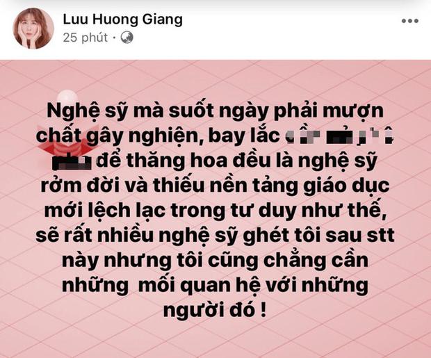 """Biến mới: Lưu Hương Giang bất ngờ lên tiếng tố nghệ sĩ thích """"bay lắc"""" là """"rởm đời"""", thiếu giáo dục, chuyện gì đây? - Ảnh 1."""