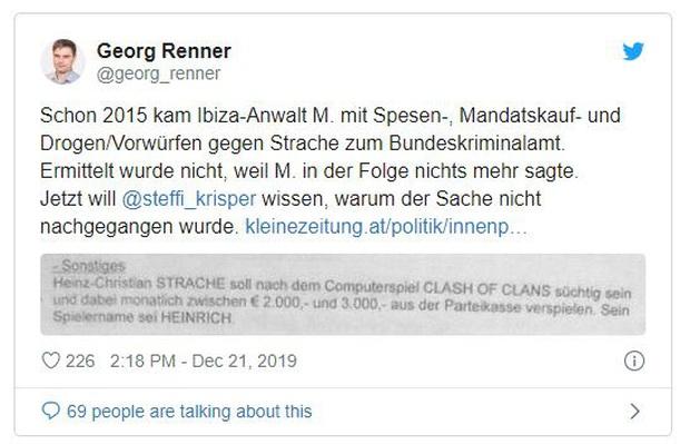 Nghiện game Clash of Clans, cựu Phó thủ tướng Áo dính nghi án đốt 3.000 Euro mỗi tháng tiền công quỹ - Ảnh 1.