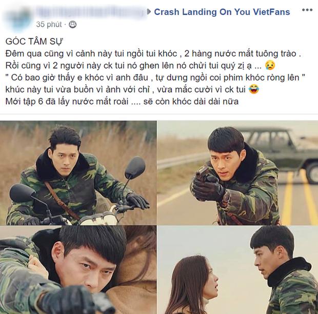 Khóc thương khi thấy Hyun Bin đỡ đạn cho Ye Jin ở Tình Yêu Hạ Cánh tập 6, fan girl khiến chồng nổi cơn tam bành - Ảnh 3.