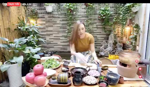 Livestream vừa nấu ăn vừa hát, Mỹ Tâm gây bão luôn và còn được gọi là bà Tâm Vlog - Ảnh 1.
