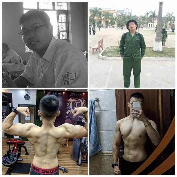 """Chàng trai """"bánh bao"""" bị gym mê hoặc sau khi giảm được 15kg, có ngay body 6 múi cực phẩm trong 1 năm - Ảnh 2."""