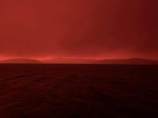 Úc đối mặt với thảm hoạ cháy rừng kinh khủng khiến bầu trời đỏ ngầu như máu, 4000 người bị mắc kẹt phải kéo nhau nhảy xuống biển - Ảnh 2.