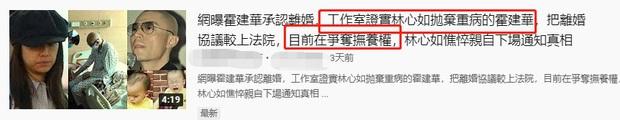 Hoắc Kiến Hoa tuyên bố ly hôn vì đang lâm trọng bệnh, Lâm Tâm Như nhất quyết đòi chia tay và mang con bỏ đi? - Ảnh 1.
