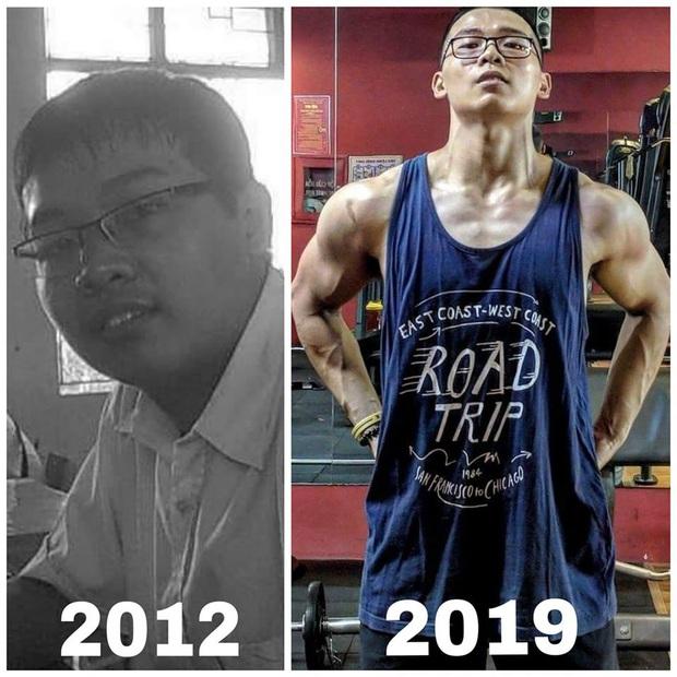 """Chàng trai """"bánh bao"""" bị gym mê hoặc sau khi giảm được 15kg, có ngay body 6 múi cực phẩm trong 1 năm - Ảnh 5."""