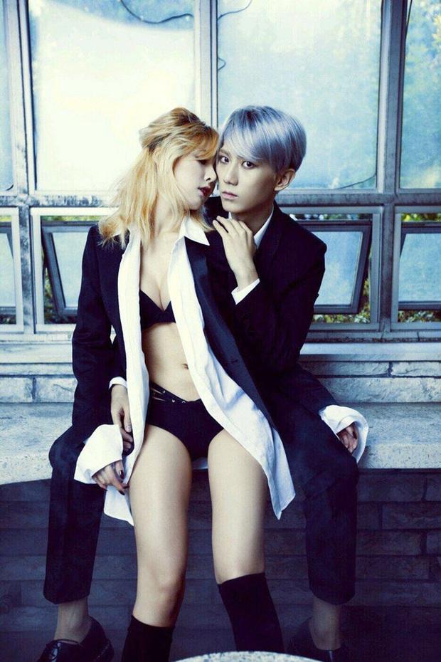 HyunA nhảy đôi nóng bỏng với bạn trai DAWN, bạo thì rất bạo nhưng thua xa khi diễn Trouble Maker với Hyunseung? - Ảnh 4.
