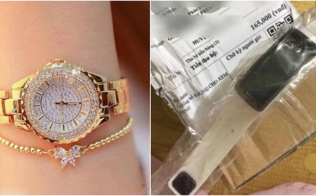 Tưởng bỏ 129k mà mua được đồng hồ sang chảnh tặng kèm cả lố đồ khuyến mãi, cô nàng chết đứng khi nhận về đồng hồ... nhựa - Ảnh 2.