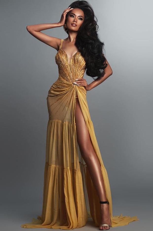 Hoàng Phương - ứng viên sáng giá của Hoa hậu Hoàn vũ VN đáp trả khi bị nói bắt chước Catriona Gray - Ảnh 2.