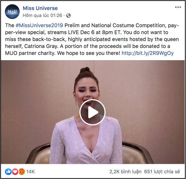 Miss Universe 2019 bị khán giả quốc tế kịch liệt phản ứng vì thu phí người xem trực tuyến - Ảnh 1.