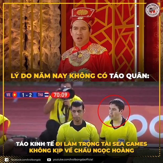 Cười lăn với loạt ảnh chế khi Việt Nam loại Thái Lan: Trọng tài đẹp trai chiếm spotlight, gây cười nhất là list thủ môn làm tăng độ khó cho game - Ảnh 3.